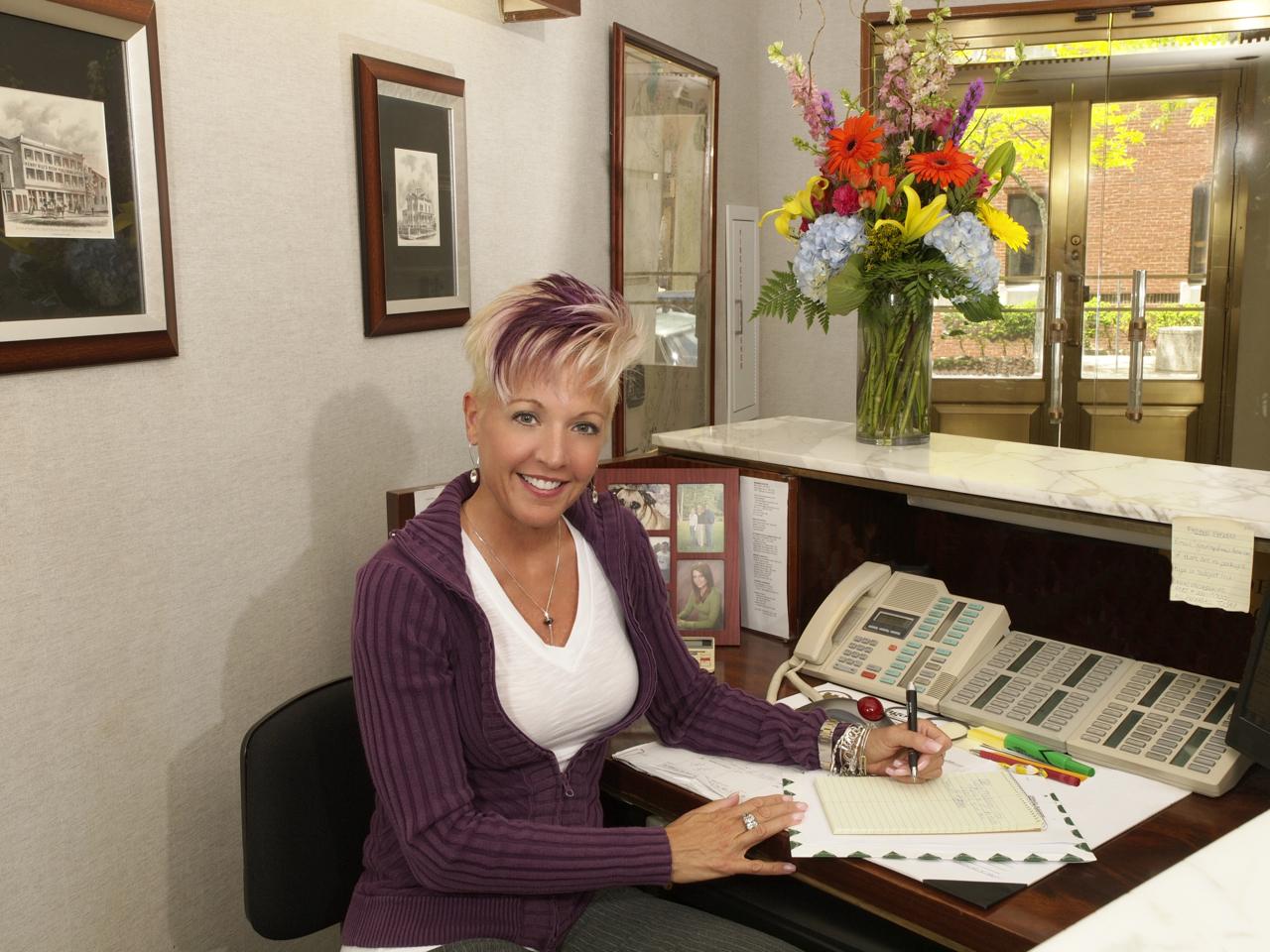 Receptionist Lynn